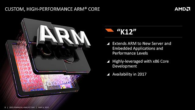 AMD FAD '15 - Custom, High-Performance ARM Core