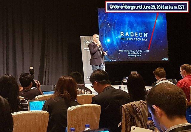 AMD Polaris Tech Day mit Polaris NDA-Ablaufdatum