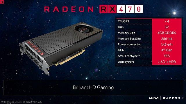 AMD Radeon RX 470 Spezifikationen