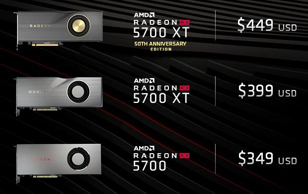 AMD Radeon RX 5700 Serie: Neue Listenpreise