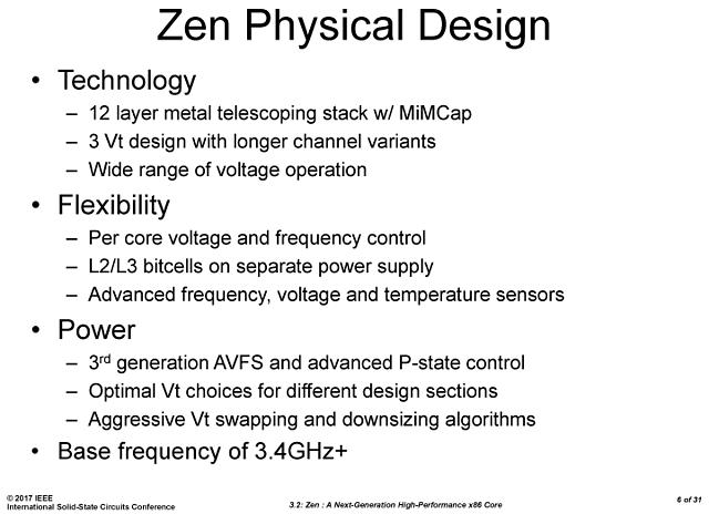AMD Ryzen-Präsentation @ ISSCC (Slide 06)