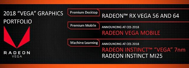 AMD Vega-Portfolio 2018