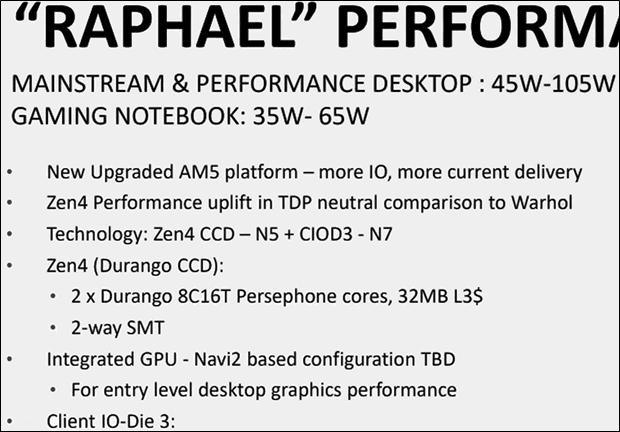 """AMD Zen 4 """"Raphael"""" (Leak von März 2020)"""