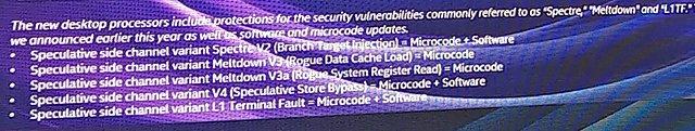 Intel Core i-9000 X-Serie: Schutz gegenüber Meltdown & Spectre