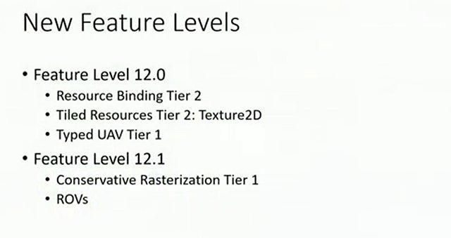 DirectX 12: Neue Feature-Levels