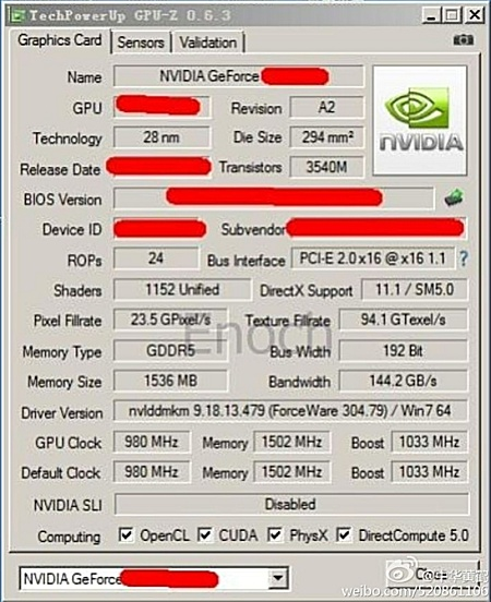 GeForce GTX 660 Ti (?) @ GPU-Z