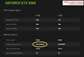 GeForce GTX 1060 Spezifikationen von nVidias offizieller US-Webseite