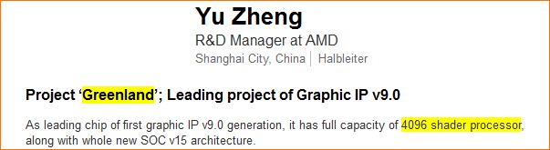 Hinweise zu AMDs Greenland-Chip bei LinkedIn