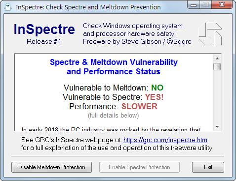 InSpectre auf Core i5-4210U
