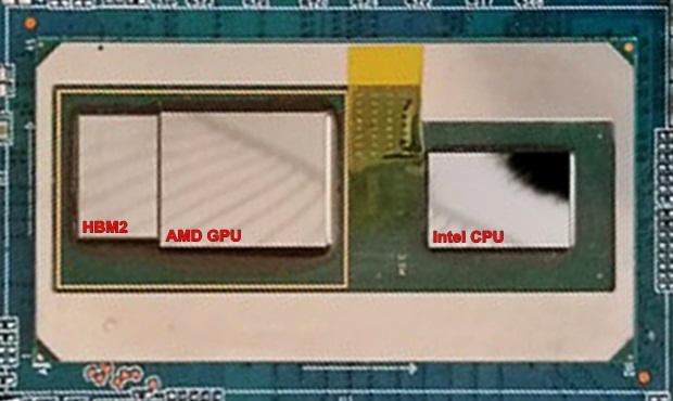 "Intel-APU Package & Dies (Core i7-8xxxG, ""Kaby-Lake-G"" bzw. ""Coffee-Lake-G"")"
