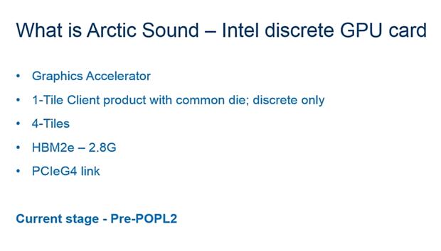 "Intel ""Arctic Sound"" Spezifikationen - Teil 2"