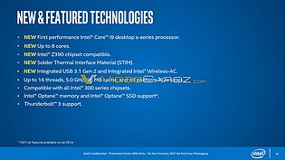 Intel Core i-9000 Features