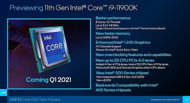 Intel Core i9-11900K Preview