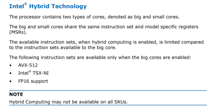 "Intel ""Hybrid Technology"""