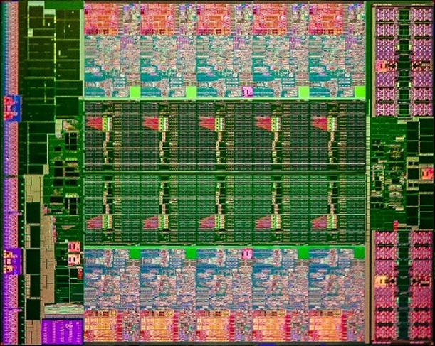 Intel Ivy Bridge EP Prozessoren-Die für 10 Kerne