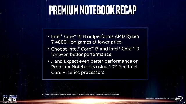 Intel-Präsentation: Core i-9000 vs. AMD Zen 2 (Slide 30)