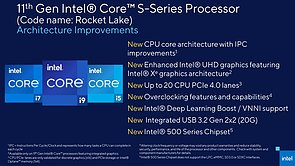 Intel Rocket Lake-S Architektur-Verbesserungen