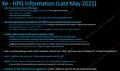Intel Xe HPG Informationen von MLID (Ende Mai 2021)