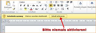 Microsoft Office: Makro-Warnung