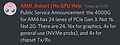 AMD Ryzen 4000G Serie mit x16 PCI Express 3.0 Lanes