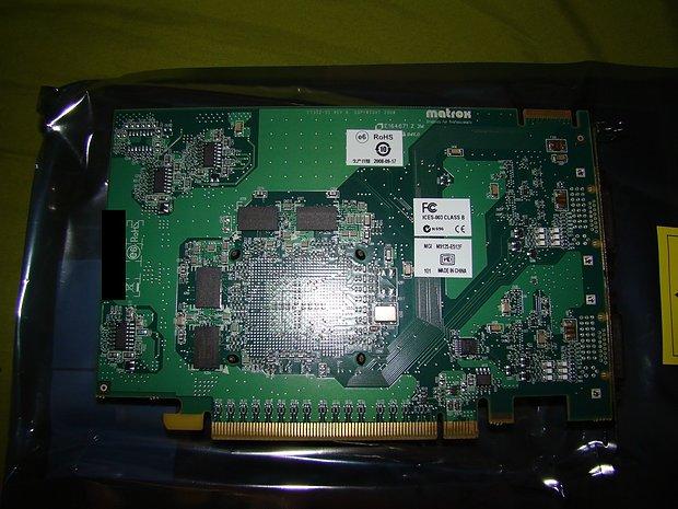 Matrox M9125 - Rückseite