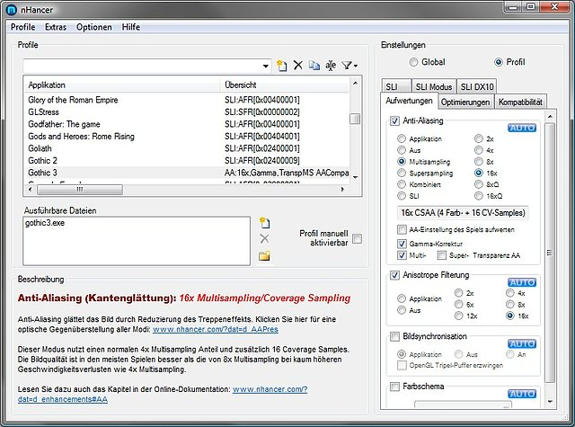 nHancer 2.4 Screenshot