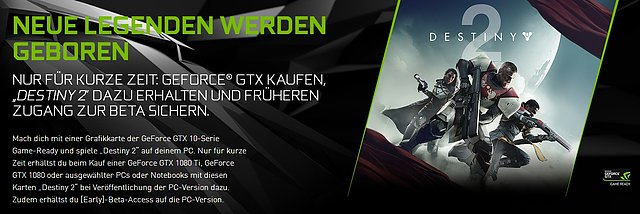 "nVidia ""Destiny 2"" Spielebundle"