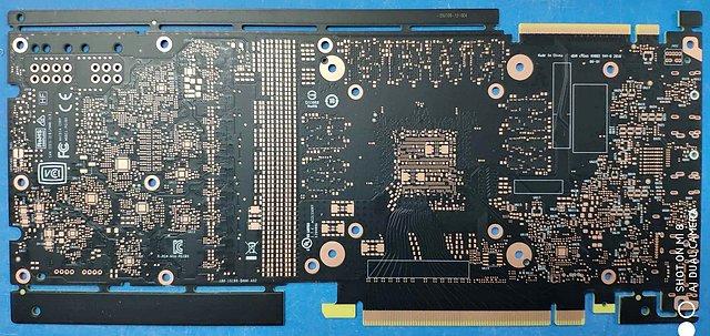 nVidia GeForce GTX 1180 PCB-Rückseite
