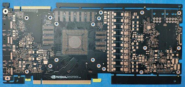 nVidia GeForce GTX 1180 PCB-Vorderseite