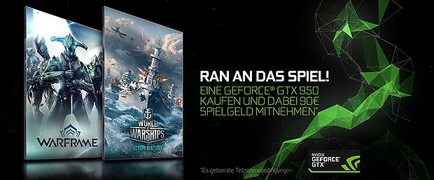 nVidia GeForce GTX 950 Ingamewährung-Bundle