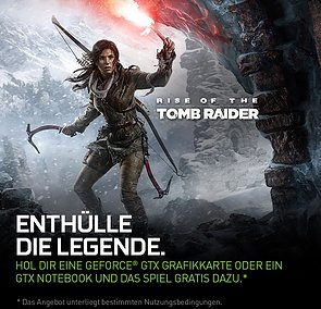 "nVidia ""Rise of the Tomb Raider"" Spielebundle"