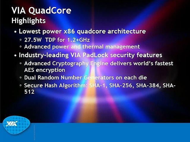 VIA-Präsentation zum Nano QuadCore-Prozessor, Teil 2