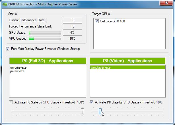 Multi Display Power Saver: Schwellenwertautomatik
