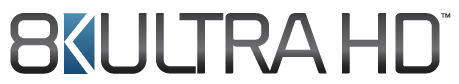 """8K UltraHD"" Logo der Consumer Technology Association (CTA)"
