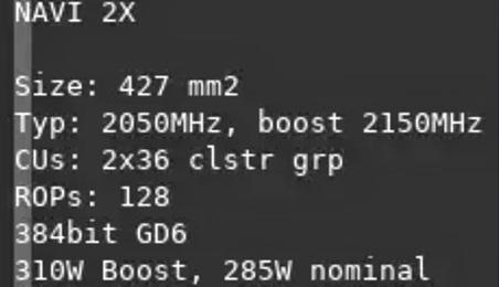 "AMD ""Big Navi"" angebliche Spezifikationen"