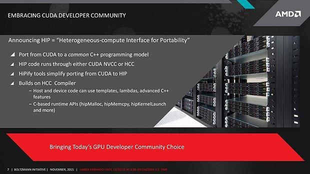 "AMD ""Boltzmann Initiative"" - Slide 7"
