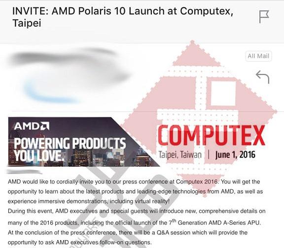 AMD Polaris 10 Launchankündigung