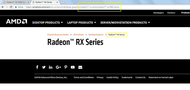 AMD Radeon RX 600 Serie