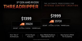 AMD Ryzen Threadripper 3960X & 3970X Spezifikationen