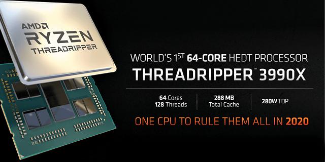 AMD Ryzen Threadripper 3990X Ankündigung
