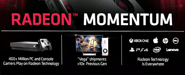 AMD Radeon Momentum: Vega Shipments 10x than previous Generation