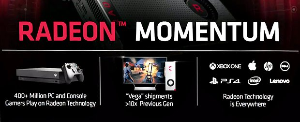 AMD Radeon Momentum: Vega Shipments 10x than previous Generation