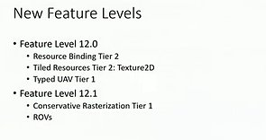 DirectX 12 – Neue Feature-Levels