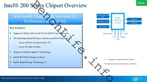 Intel 200 Series Chipset Overview