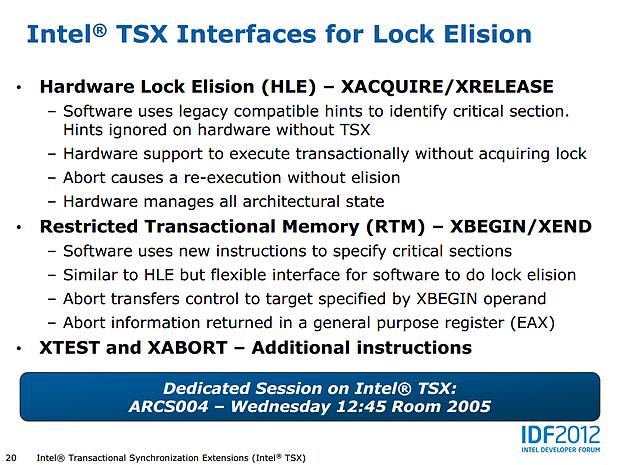 Intel Haswell-Präsentation (Slide 20)