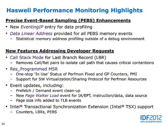 Intel Haswell-Präsentation (Slide 22)