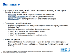 Intel Haswell-Präsentation (Slide 30)