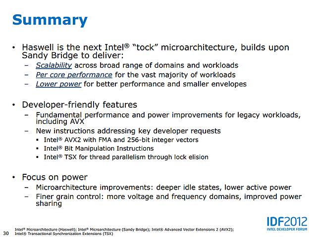 Intel Haswell-Präsentation (Slide 30)