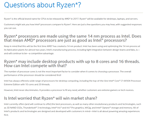 "Intel ""Questions about Ryzen?"""