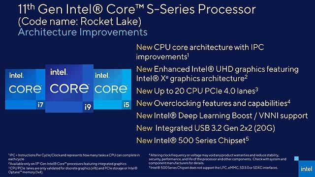 Intel Rocket Lake-S Architektur-Verbesserungen